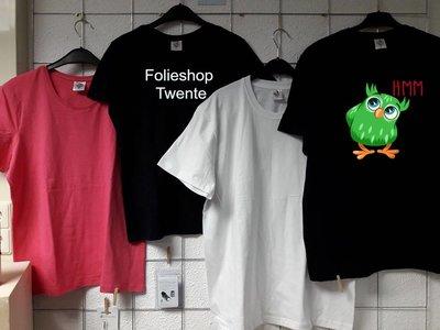 DAMES T-shirt (2stuks) ZWART 155 GRAMS