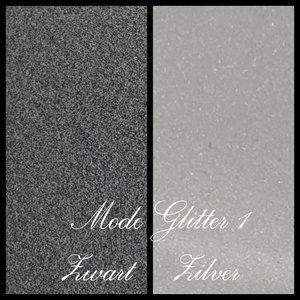 Moda Glitter 1 Zwart en Zilver (20x25cm)